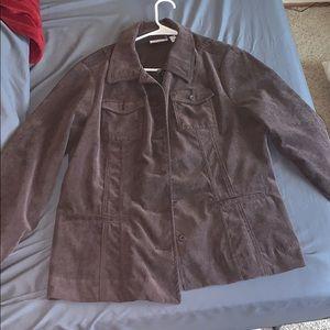 Brown corduroy jacket size L